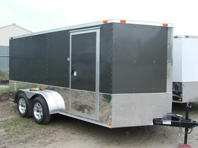 7x14 TVRM Enclosed Motorcycle Trailer On Sale Now