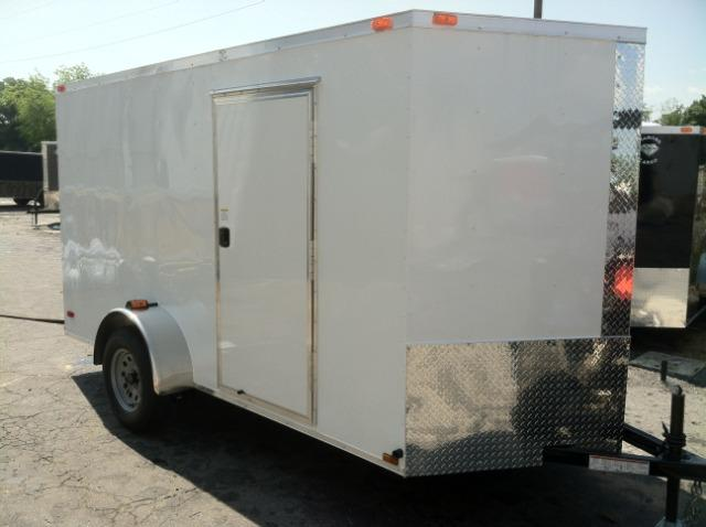 6x12 SVR White Enclosed Cargo Trailer