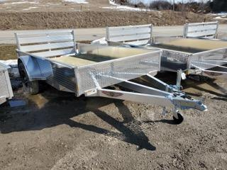 2021 H and H Trailer 66x10 Aluminum Solid Side Utility Traile
