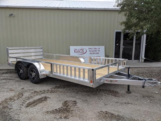 2022 H and H Trailer 82x16 Aluminum ATV Trailer 7K Tandem (H8216TRSAV-070) Utility Trailer