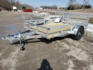 2021 H and H Trailer 76x10 Aluminum Rail Side Utility Trailer