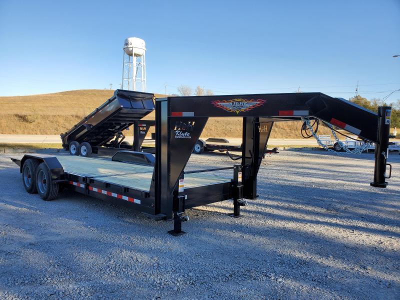 2021 H and H Trailer 82x16+6 Gooseneck Gravity Tilt Equipment