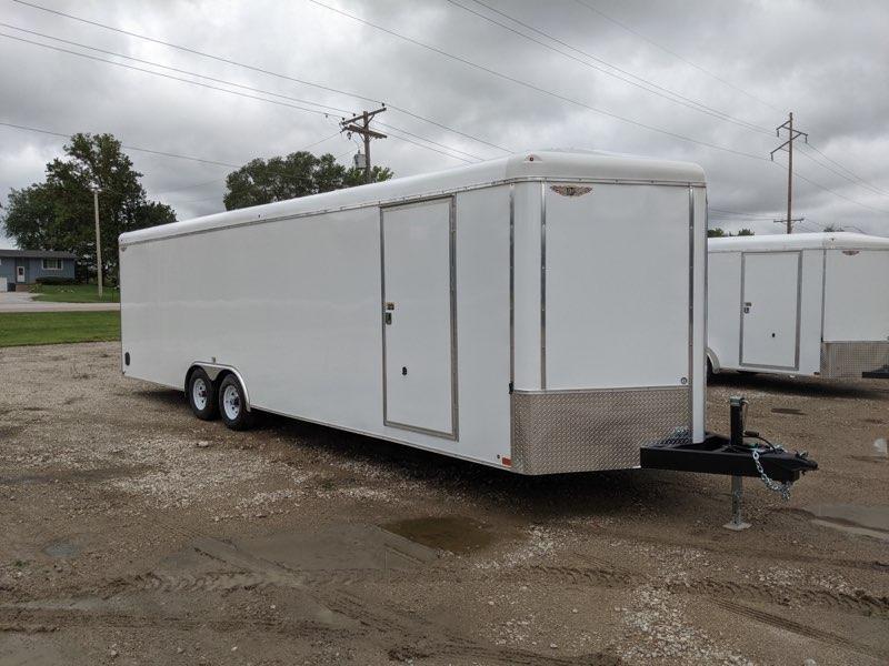 2022 H and H Trailer 8.5x28 HH Series Round Top V-Nose Enclosed Car Hauler Trailer 10K (H10128RTCHV-100) Enclosed Cargo Trailer