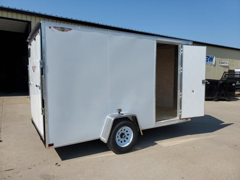 2021 H and H Trailer 7x12 Flat Top V-Nose Enclosed 5K
