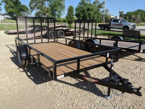 2021 H and H Trailer 76X12 STEEL RAIL SIDE 5K