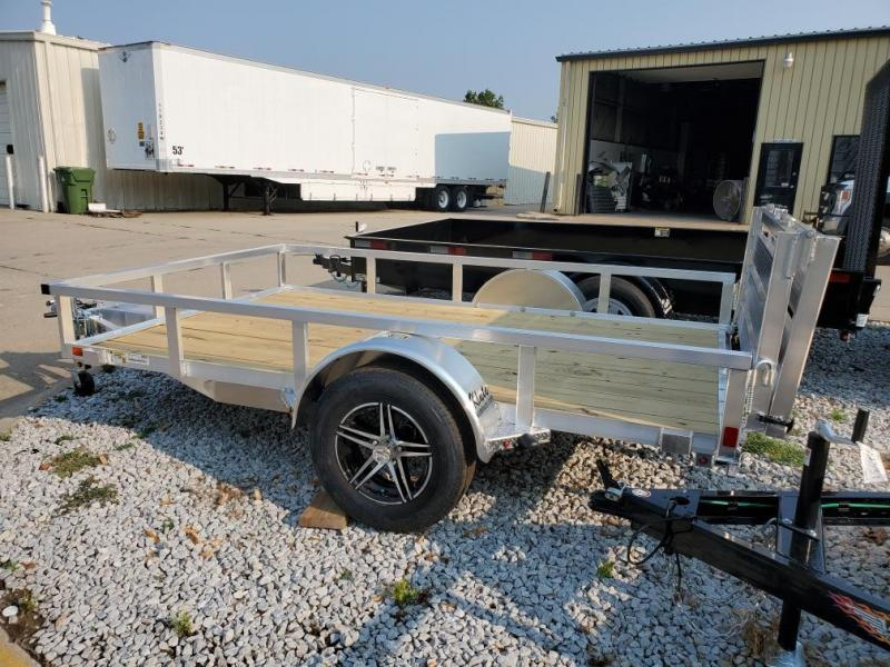 2021 H and H Trailer 76x10 Aluminum Rail Side Utility Trailer 3K Idler Utility Trailer