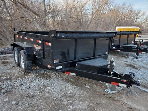 2021 H and H Trailer 83x12 Industrial Dump Trailer  14K Sciss