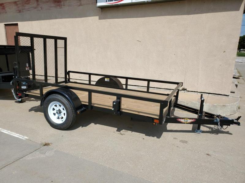 2021 H and H Trailer 66x10 Rail Side Utility Trailer  3K Idle
