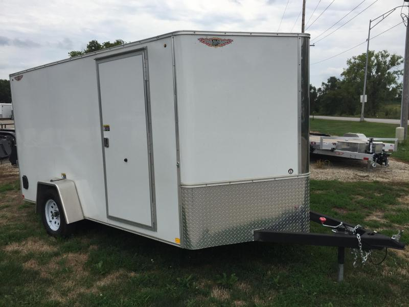 2020 H and H Trailer 7X12 SINGLE FLAT TOP CA VNOSE 3.5K CARGO