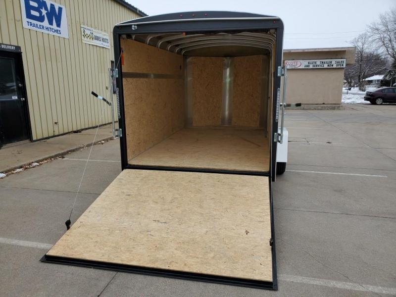 2021 H and H Trailer 7x12 HH Series Round Top V-Nose Enclosed