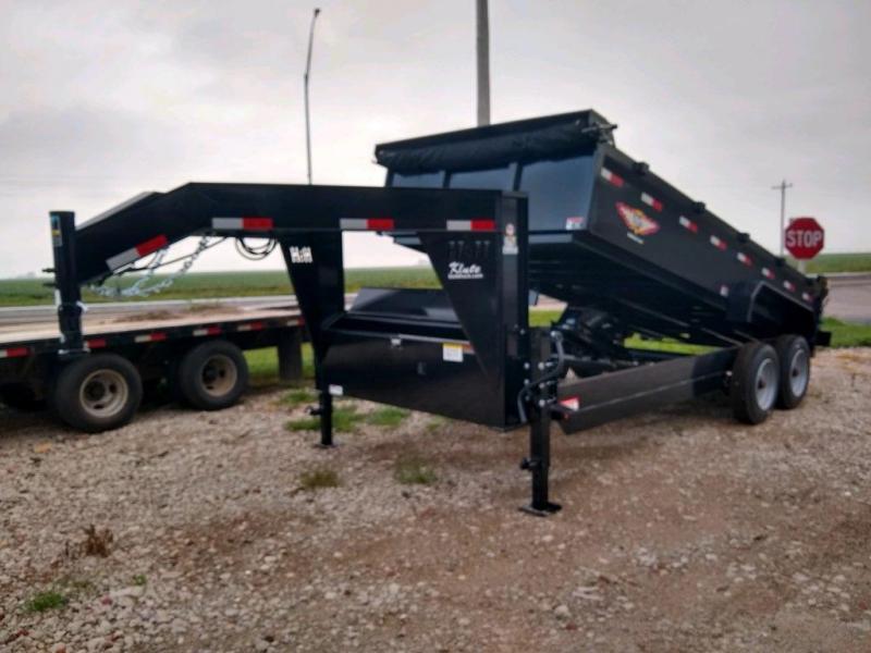 2021 H and H Trailer 83x16 Industrial Gooseneck Dump Trailer