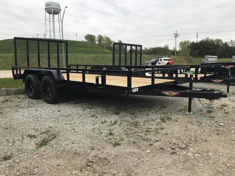 2020 H and H Trailer 82X16 STL RAIL SIDE TANDEM 7K