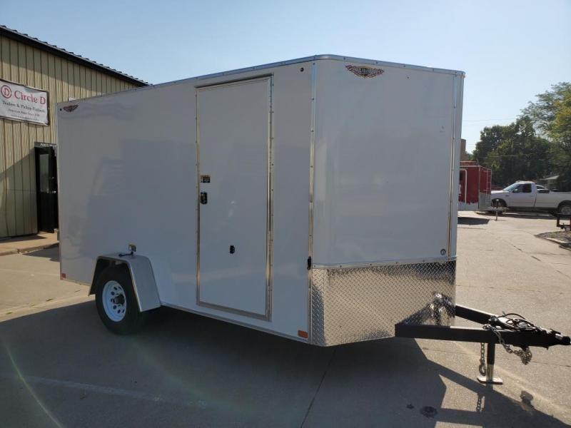 2021 H and H Trailer 7x12 HH Series Flat Top V-Nose Enclosed Cargo Trailer 5K Brake (H8412SFTV-050) Enclosed Cargo Trailer