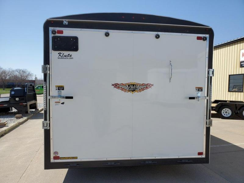 2021 H and H Trailer 8.5x22 Round Top V-Nose 10K Cargo