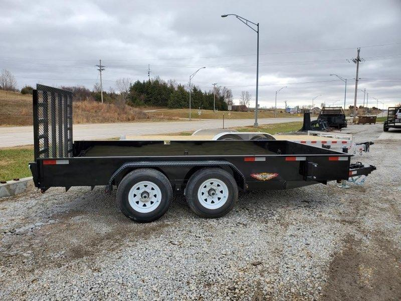 2021 H and H Trailer 82x14 Solid Side Utility Trailer  10K Ta