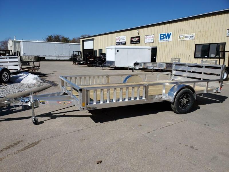 2021 H and H Trailer 82x14 Aluminum ATV Trailer  3K Idler
