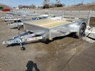 2021 H and H Trailer 76x10 Aluminum Solid Side Utility Traile