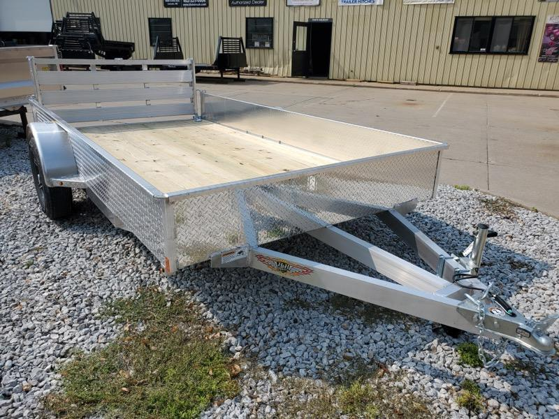 2021 H and H Trailer 76x12 Aluminum Solid Side Utility Traile