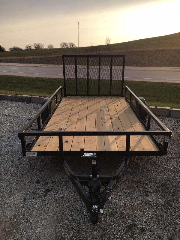 2020 H and H Trailer 76X12 STEEL RAIL SIDE 5K
