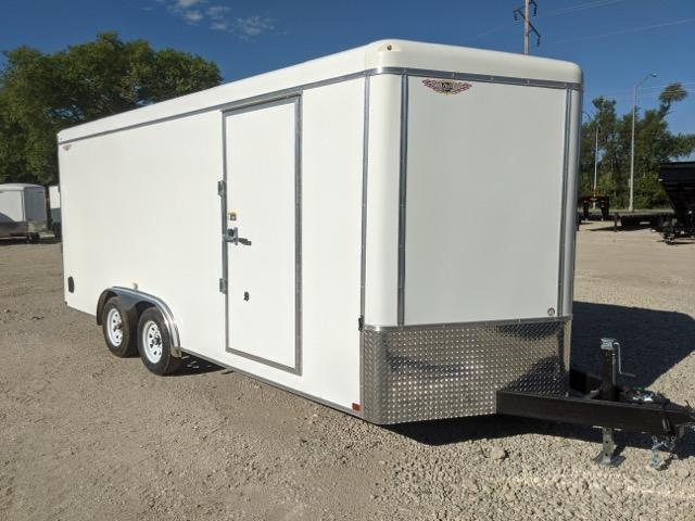 2021 H and H Trailer 8X18 TANDEM RND TOP HH VNOSE 7K CARGO
