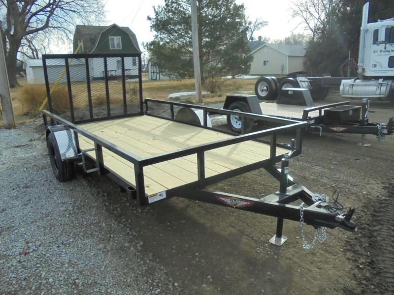 2020 H and H Trailer 76X12 STEEL RAIL SIDE 3.5K