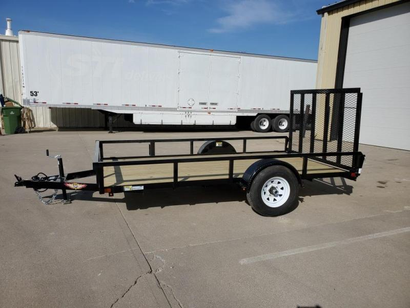 2021 H and H Trailer 76x12 Rail Side Utility Trailer  5K Brak