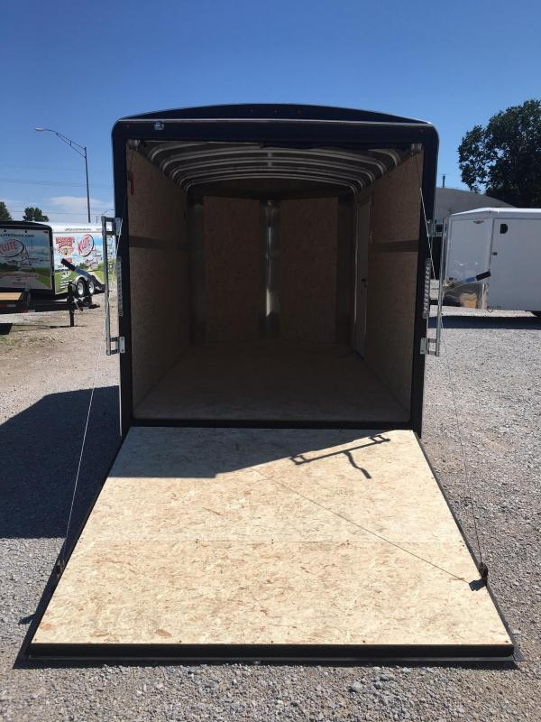 2021 H and H Trailer 7X12 SINGLE RND TOP HH V-NOSE 5K CARGO