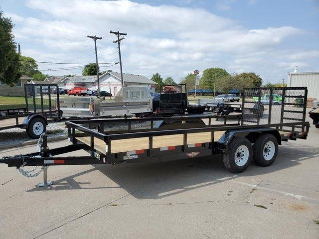 2022 H and H Trailer 82x18 Heavy Duty Rail Side Landscape Tra