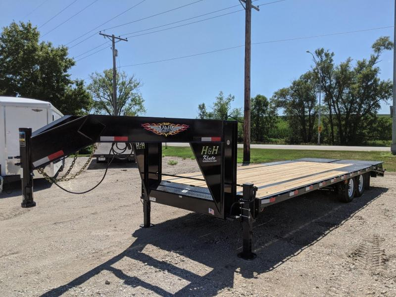 2021 H and H Trailer 20+5 14LB GN LP 14K DECKOVER SUPER DLX