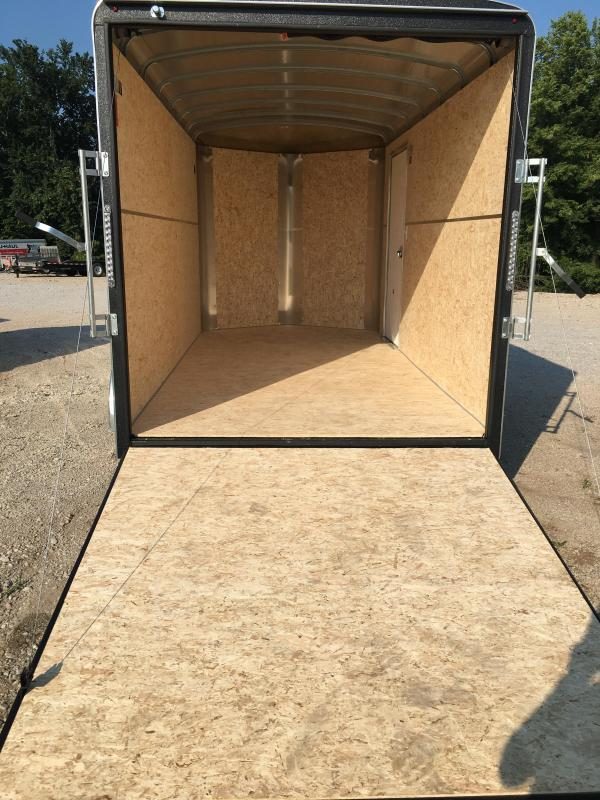 2021 H and H Trailer 7X14 TANDEM RND TOP HH VNOSE 7K CARGO