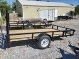 2022 H and H Trailer 76x12 Rail Side Utility Trailer  3K Idle