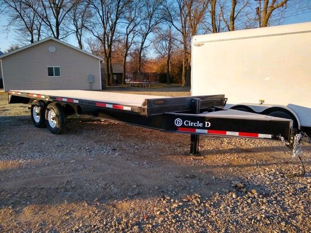 2021 Circle D 20' BH Deckover Flatbed Trailer