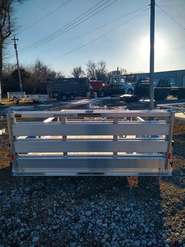 2021 H and H Trailer 76x10 Aluminum Rail Side Utility Trailer