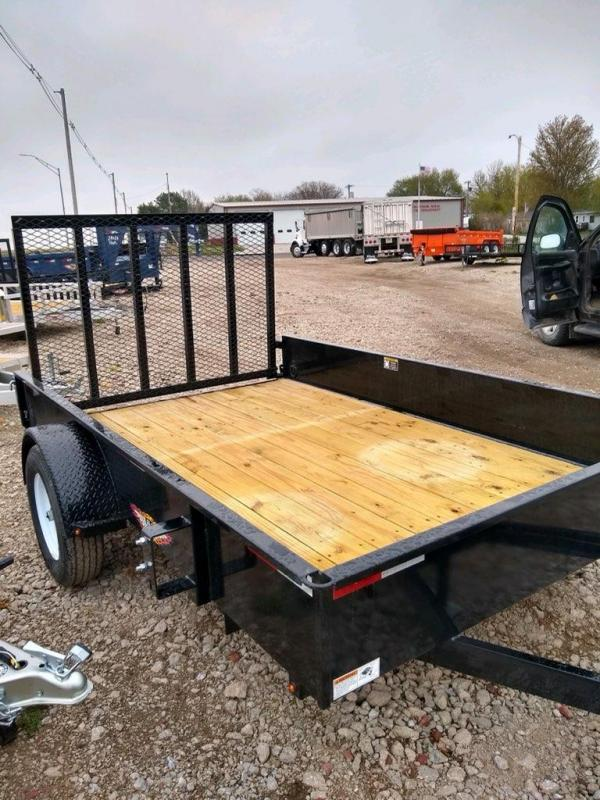 2021 H and H Trailer 76x10 Solid Side Utility Trailer  3K Idl