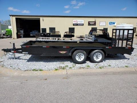 2021 H and H Trailer 82x18 Solid Side Utility Trailer  10K Ta