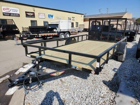 2021 H and H Trailer 82x14 Rail Side Utility Trailer  5K Brak
