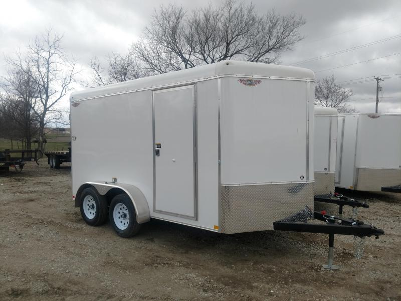 2020 H and H Trailer 7X12 TANDEM RND TOP CA VNOSE CARGO