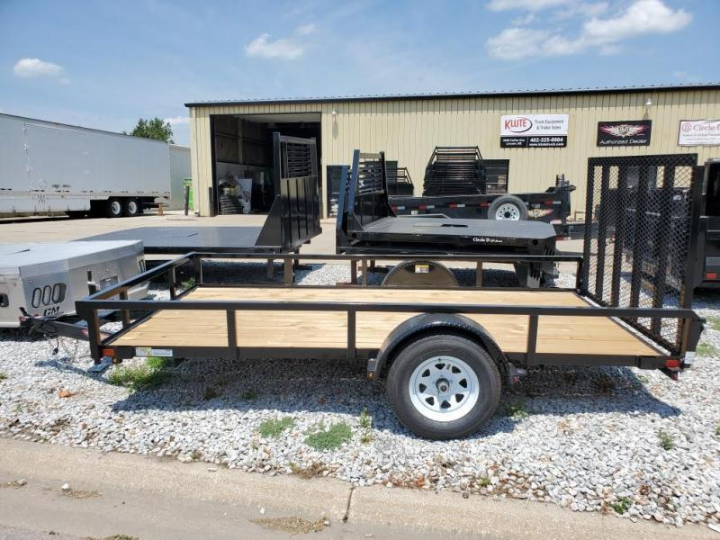 2021 H and H Trailer 76x12 Rail Side Utility Trailer  3K Idle
