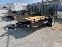 2021 Sure-Trac 7x12 Steel High Side Utility Trailer 3K