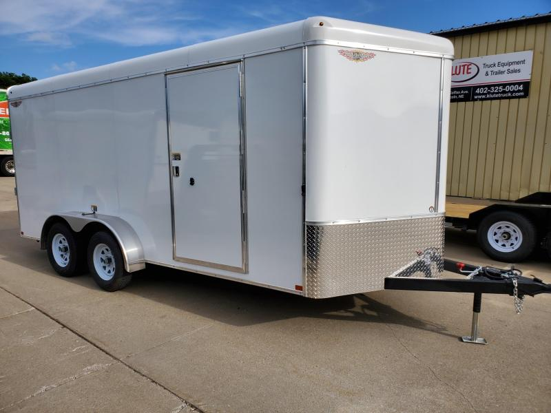 2021 H and H Trailer 7X16 TANDEM RND TOP HH VNOSE 7K CARGO