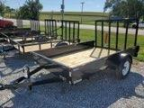 2022 H and H Trailer 76x10 Solid Side Utility Trailer  3K Idl