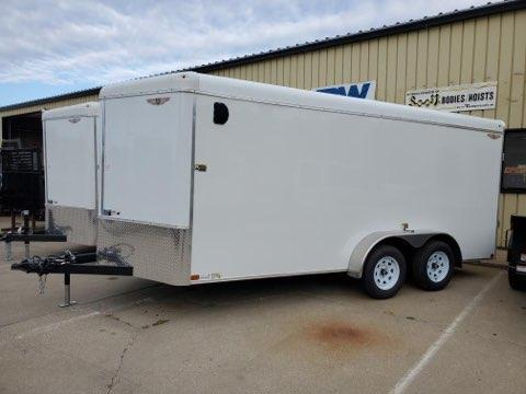 2022 H and H Trailer 7x16 HH Series Round Top V-Nose Enclosed