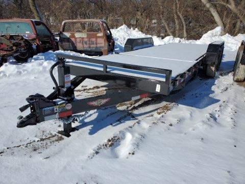 2021 H and H Trailer 82x16+6 Gravity Tilt Equipment Trailer