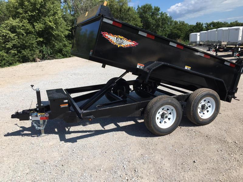 2021 H and H Trailer 76X10 UTILITY DUMP 24IN SW 10K BRAKE