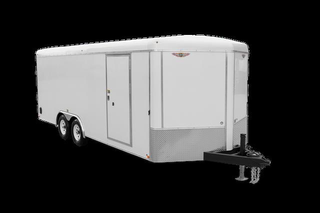 2022 H and H Trailer 8.5x20 HH Series Round Top V-Nose Enclosed Car Hauler Trailer 14K