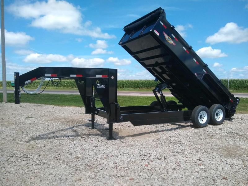 2021 H and H Trailer 83X16 DBW GN DUMP BOX 14K