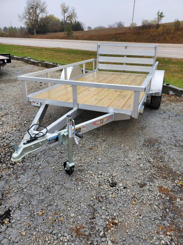 2021 H and H Trailer 66x10 Aluminum Rail Side Utility Trailer