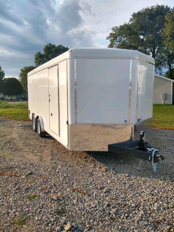 2021 H and H Trailer 8X18 TANDEM RND TOP HH VNOSE 10K CARGO