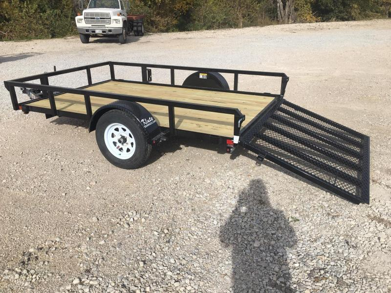 2021 H and H Trailer 76X10 STEEL RAIL SIDE 3.5K