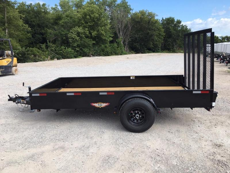 2021 H and H Trailer 76X12 STEEL SOLID SIDE 5K